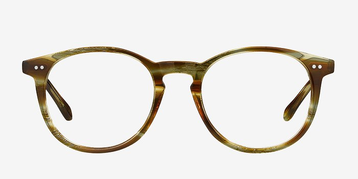 Striped Caramel Prism -  Acetate Eyeglasses