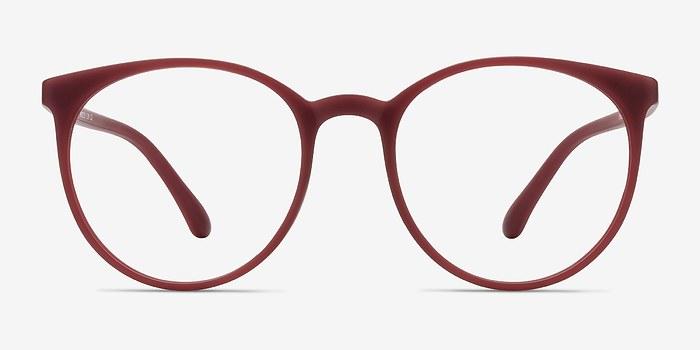 Matte Red Portrait -  Plastic Eyeglasses