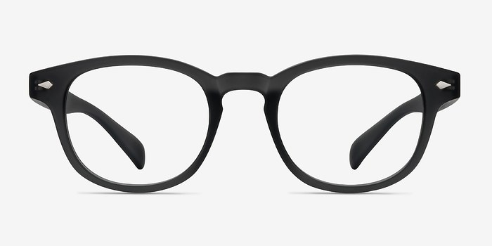Matte Gray Atomic -  Vintage Plastic Eyeglasses
