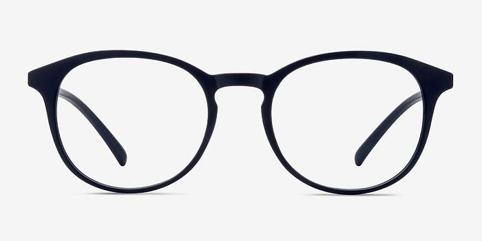 Matte Navy Brace -  Plastic Eyeglasses