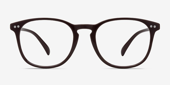 Dark Red Record -  Plastic Eyeglasses