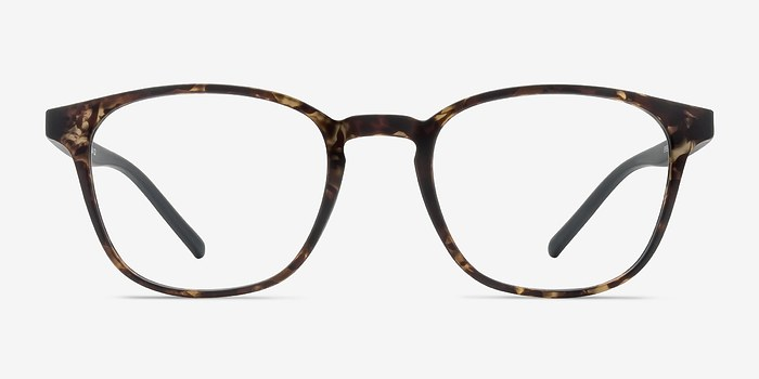 Swirled Amber Saunter -  Colorful Plastic Eyeglasses