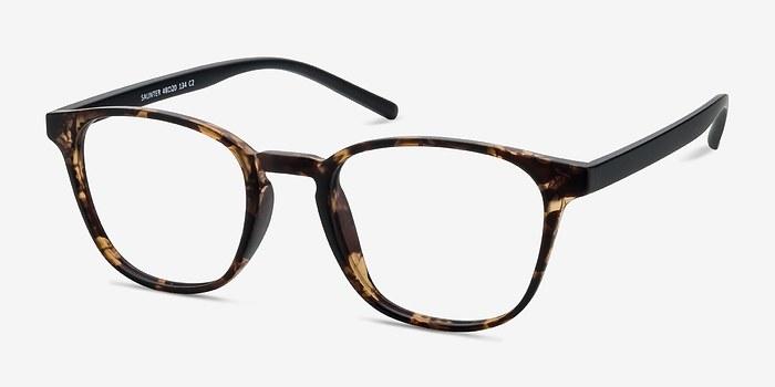 EyeBuyDirect Saunter Swirled Amber Plastic Eyeglasses