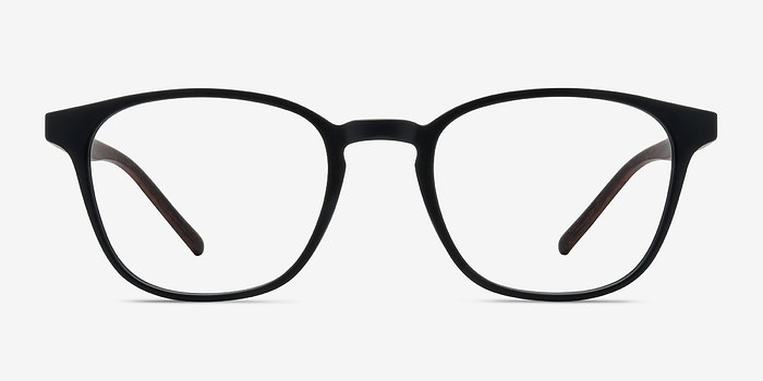 Matte Black Saunter -  Plastic Eyeglasses