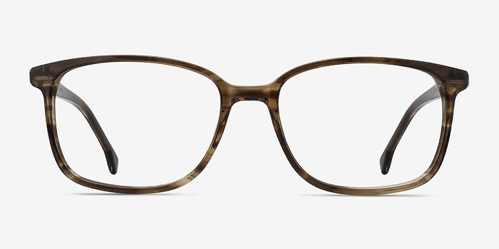 Striped Brown Vale -  Acetate Eyeglasses