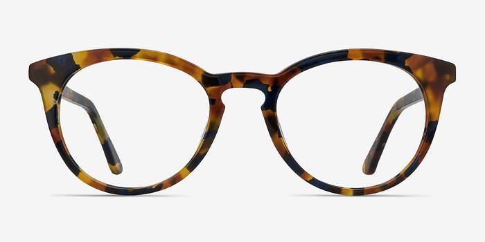 Amber & Navy Griffin -  Vintage Acetate Eyeglasses
