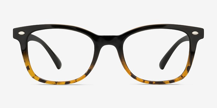 Black Brown Drama -  Plastic Eyeglasses