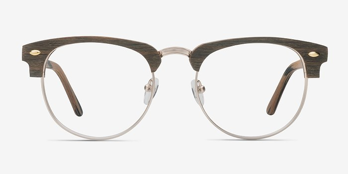 Brown Esteban M -  Wood Texture Eyeglasses