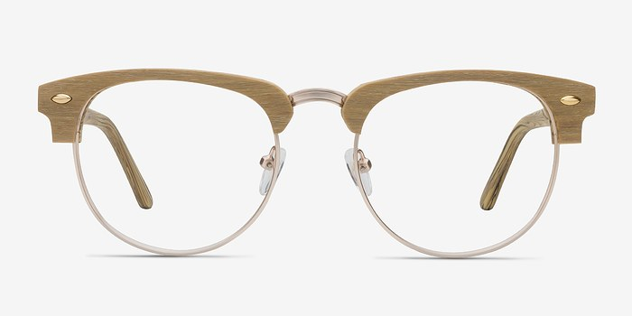 Yellow Esteban M -  Wood Texture Eyeglasses
