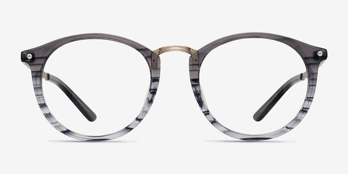 Gray Striped La Femme -  Designer Acetate Eyeglasses