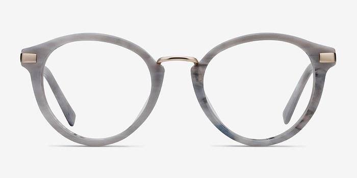 Light Gray Yuke -  Vintage Acetate Eyeglasses