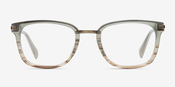 Green Brown Audacity -  Designer Acetate Eyeglasses