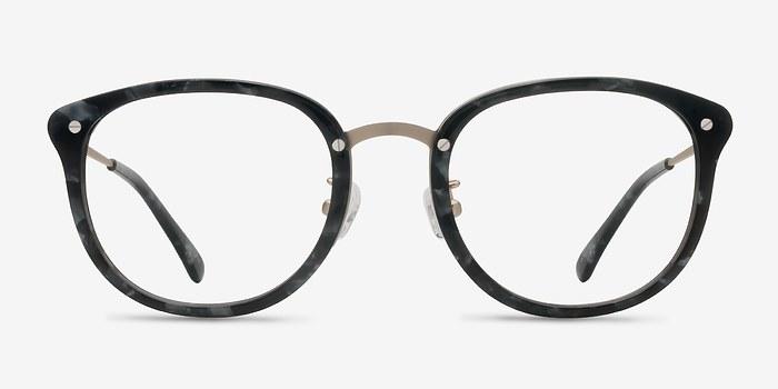 Gray Floral Sakura -  Designer Acetate Eyeglasses