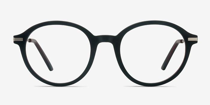 Matte Brown Juno -  Metal Eyeglasses