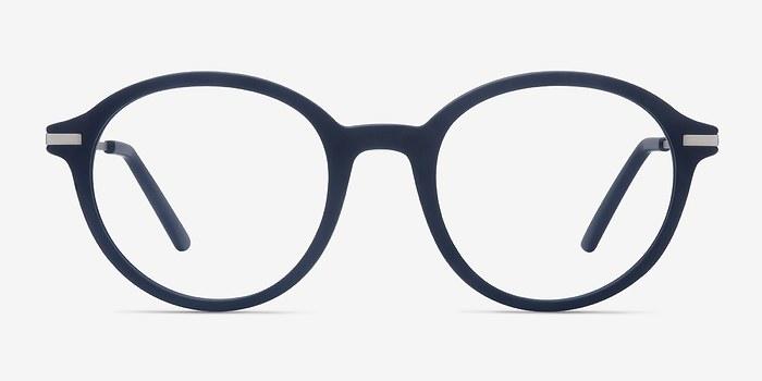 Matte Navy Juno -  Metal Eyeglasses
