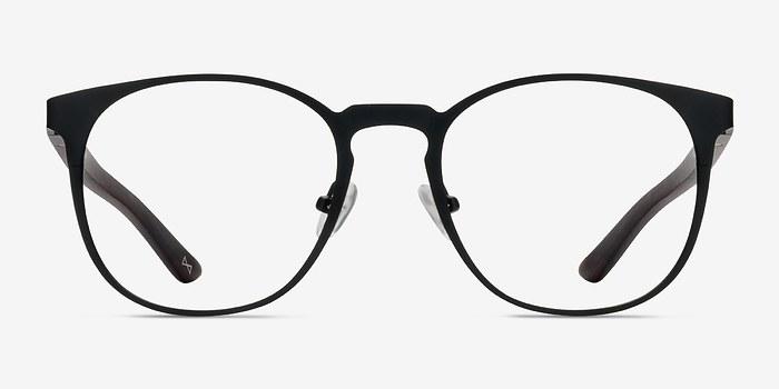Charcoal Walnut Resonance -  Metal Eyeglasses