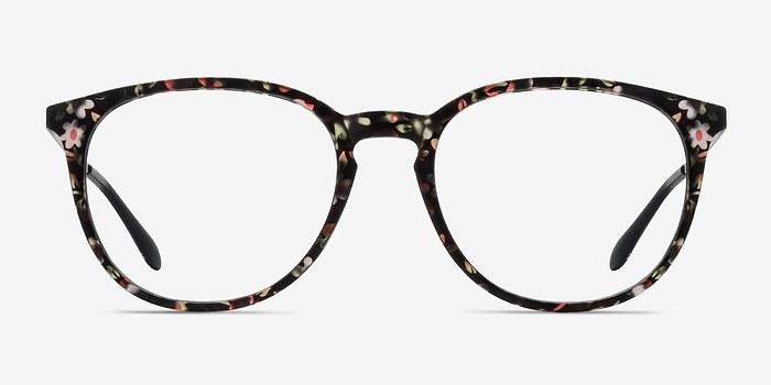 Pink Floral Gracious -  Colorful Metal Eyeglasses