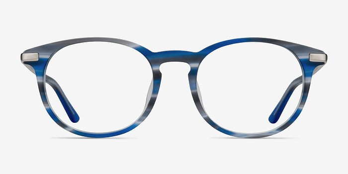 Blue Striped Mood -  Acetate Eyeglasses