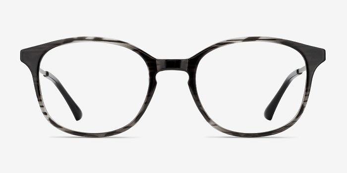 Black striped Villa -  Metal Eyeglasses