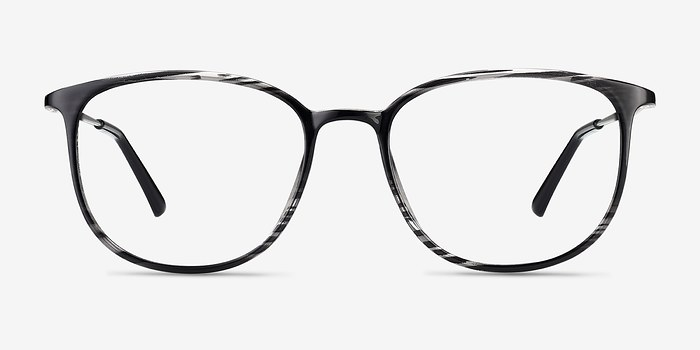 Black striped Strike -  Metal Eyeglasses