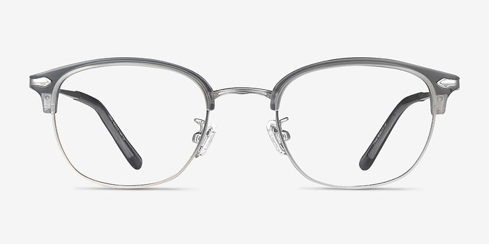 Matte Gray Links -  Metal Eyeglasses
