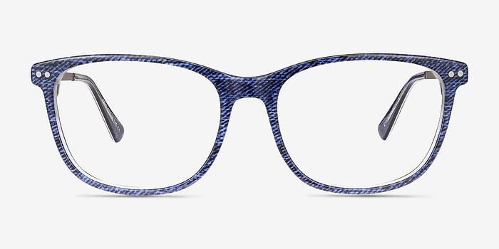 Bleu Grid -  Acétate Lunettes de Vue