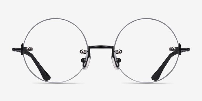 Black Palo Alto -  Lightweight Metal Eyeglasses