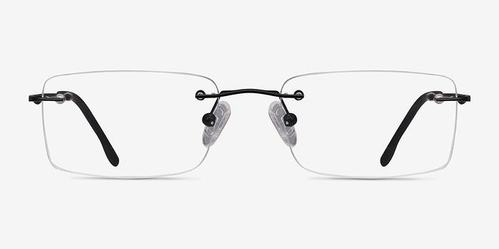 Black Woodrow -  Lightweight Metal Eyeglasses