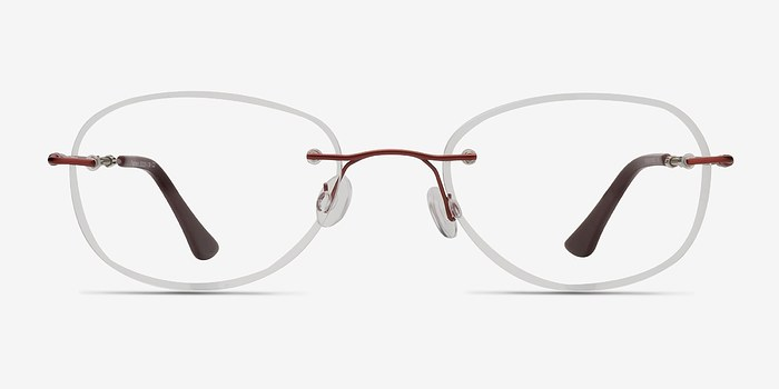 Burgundy Fragment -  Lightweight Metal Eyeglasses