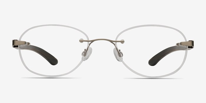 Silver Brown Fragment -  Lightweight Eyeglasses