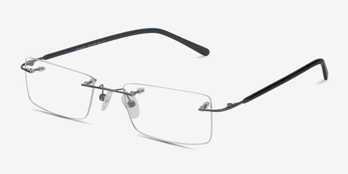 Rimless Glasses Melbourne : Glacon Gunmetal Metal Eyeglasses EyeBuyDirect