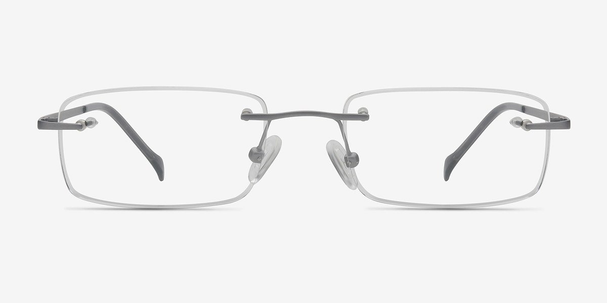 Rimless Glasses Melbourne : Paragon Gray Titanium Eyeglasses EyeBuyDirect