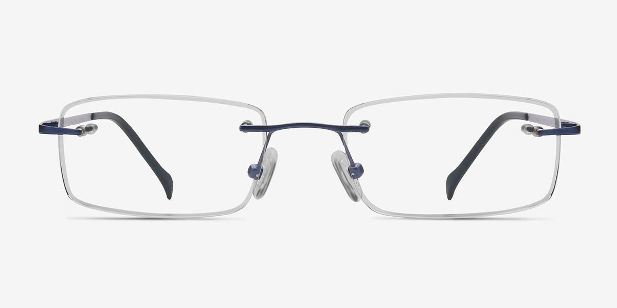 Rimless Glasses Adjusting : Paragon Navy Titanium Eyeglasses EyeBuyDirect