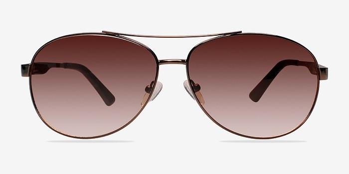 Brown Santorini -  Metal Sunglasses