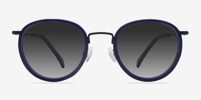 Matte Navy Siena -  Acetate Sunglasses