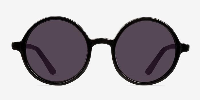 Black Alena -  Vintage Acetate Sunglasses