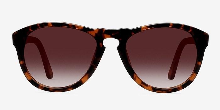 Brown/Tortoise Barcelona -  Plastic Sunglasses