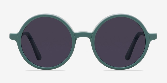 Green Alena -  Vintage Acetate Sunglasses