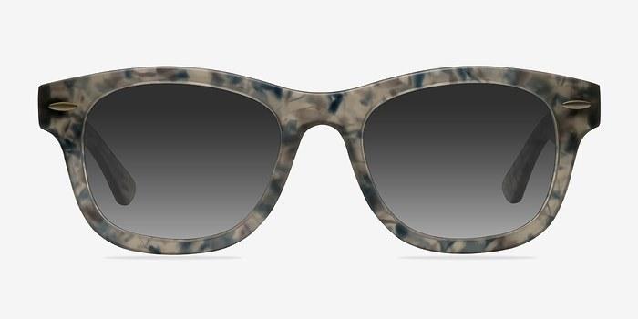 Clear Floral Hanoi -  Acetate Sunglasses
