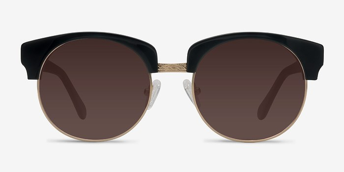Black  Simone -  Vintage Acetate Sunglasses