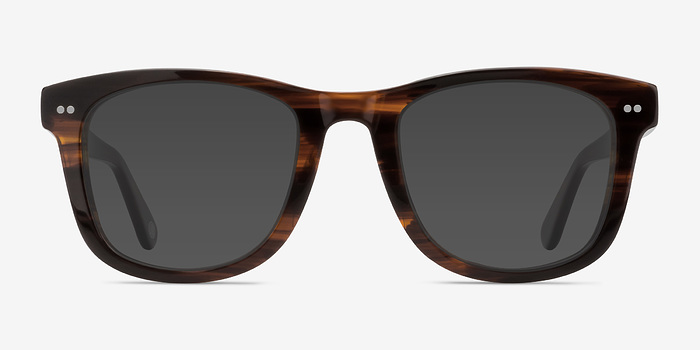 Brown Striped Nevada -  Acetate Sunglasses