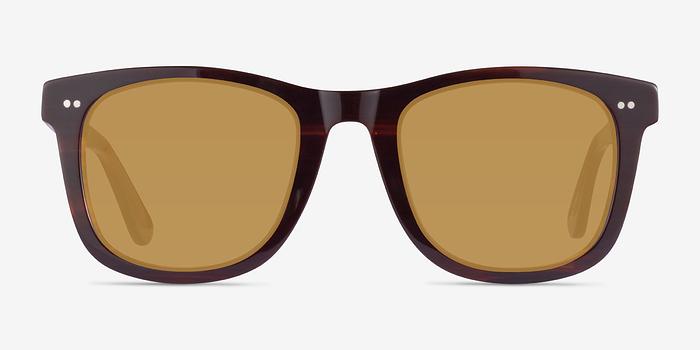 Brown Striped Nevada -  Acetate Sunglasses