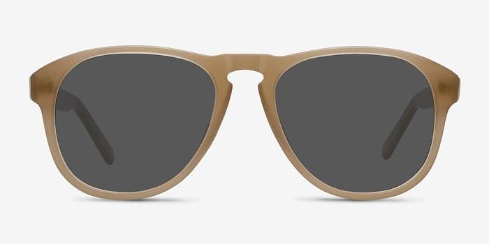 Beige Phased -  Acetate Sunglasses