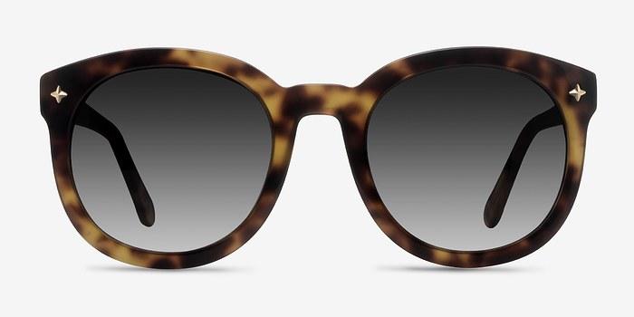 Tortoise Paige -  Vintage Acetate Sunglasses