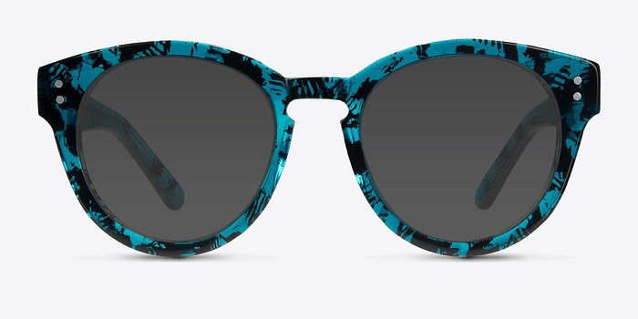Blue Floral  Rome -  Acetate Sunglasses