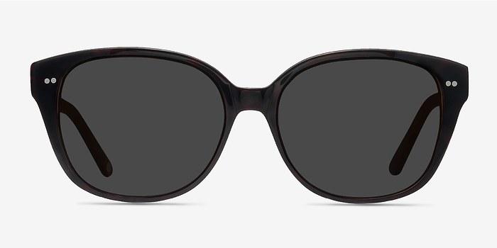 Dark Red  Lune Noire -  Vintage Acetate Sunglasses