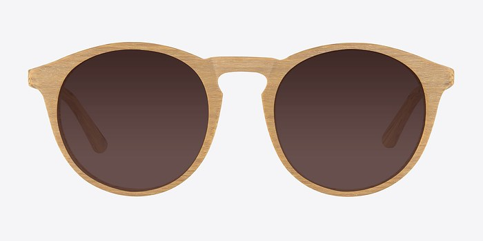Yellow Air -  Wood Texture Sunglasses