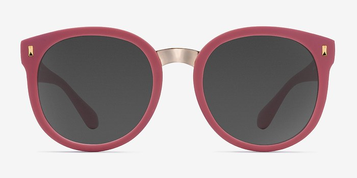 Matte Pink Vedette -  Plastic Sunglasses
