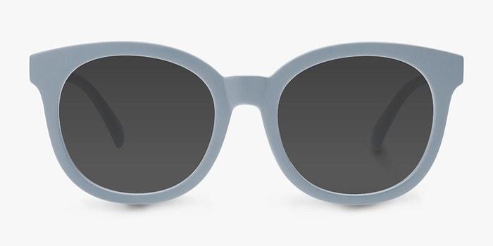 Matte Blue Elena -  Plastic Sunglasses