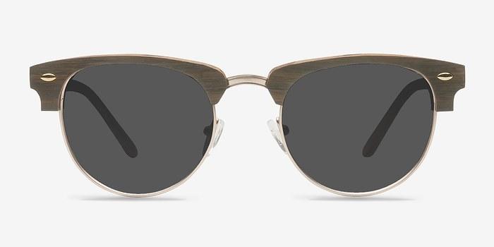 Walnut & Gold The Hamptons -  Wood Texture Sunglasses